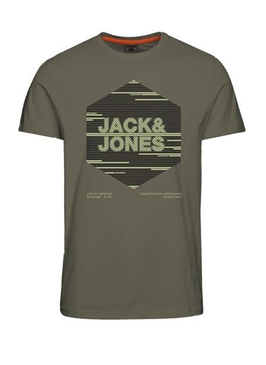 Jack & Jones Jack&Jones Baskılı Erkek T Shirt 12188031 Yeşil